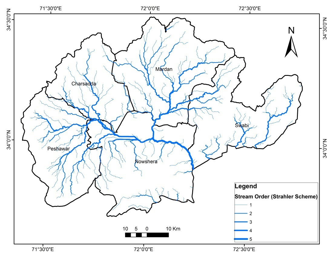 Streams in the Peshawar basin.
